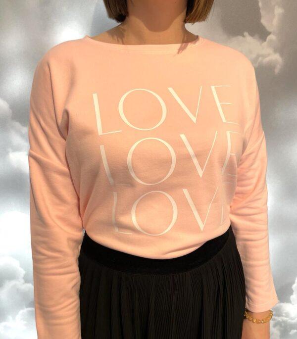 Triple Love Oversized Sweatshirt