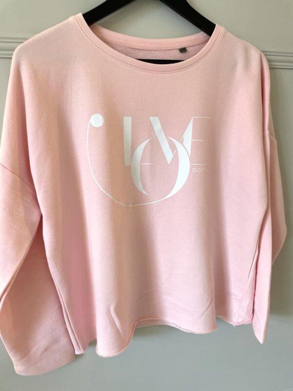 Pink Love Oversized Sweatshirt