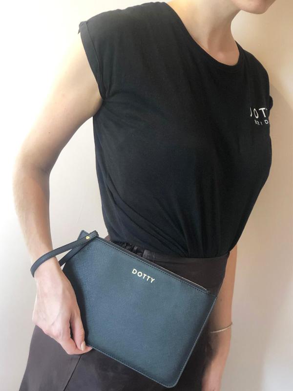 Dotty Black Clutch Bag